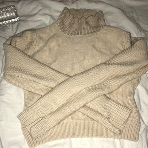 Bcbg tan sweater